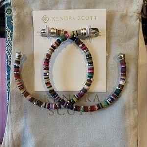 Kendra Scott Reece Hoop Earrings NWT